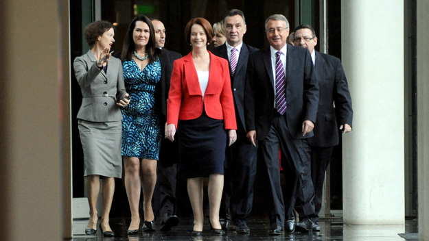 Julia Gillard defeats Kevin Rudd